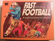 Vintage Fast Football Card Board Game Whitman 1977 Complete