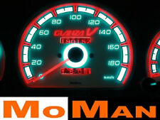 TOYOTA STARLET GLANZA glow gauges plasma dials tacho cluster plates indiglo kit