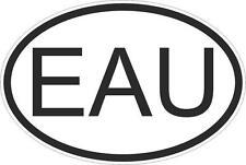 Adesivo adesivi sticker codice auto moto ritagliato nazioni ovale uganda