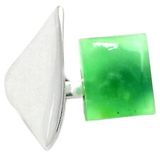 Chrysoprase 925 Sterling Silver Ring Jewelry s.6 CRPR349