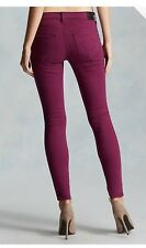 $199 True Religion Halle 26 Super Skinny Jeans Berry NWT