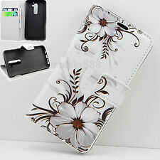 Premium Flip Leather Stand Wallet Pouch Soft TPU Phone Case Cover For LG G2 D802
