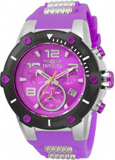 Invicta 50mm Speedway Viper Quartz Chronograph Purple Dial Silicone Strap Watch