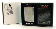 Chrome Brushed ZIPPO Jubiläum 500 Million Lighter NEU+OVP