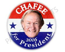 "2016 LINCOLN CHAFEE for PRESIDENT 2.25"" CAMPAIGN BUTTON, lcds"