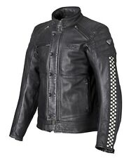 TRIUMPH CAFE RACER LEATHER MOTORCYCLE JACKET MENS SIZE MEDIUM ONLY £275