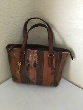 Fossil Patchwork Leather Small Satchel Handbag