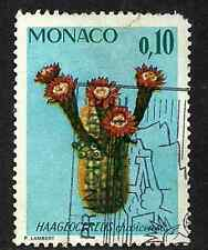 MONACO POSTAGE USED DEFINITIVE 0.10f STAMP 1974 RARE PLANTS & BOTANICAL GARDENS