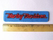 "Vintage Late 1970s Early 1980s NOS Harley-Davidson Patch 7 3/4"" Long Shovelhead"