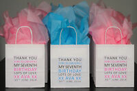 Personalised Children's Party Bags Thank You Anniversary Birthday Gift Bags