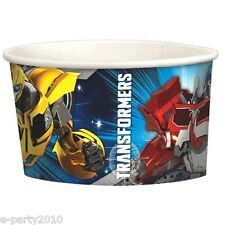 TRANSFORMERS ICE CREAM CUPS (8) ~Birthday Party Supplies Treat Favor Dessert