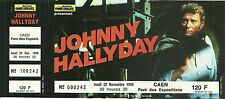 RARE / BILLET TICKET CONCERT - JOHNNY HALLYDAY A CAEN ( FRANCE ) NOVEMBRE 1990