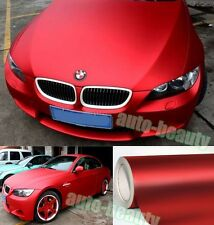 Whole Car Wrap - Metallic Satin Matte Chrome Red Vinyl Sticker 50FT X 5FT BO