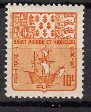 SAINT PIERRE ET MIQUELON TIMBRE COLONIE TAXE  FRANCE NEUF  N° 67 ** ARMOIRIE