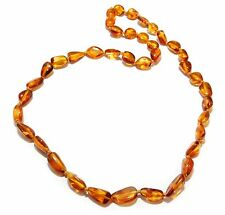 Genuine Baltic Amber Beans Necklace for Adult Honey 45 - 47 cm