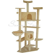 Cat Tree Tower Condo Deluxe Scratcher Post Furniture Kitten House Hammock