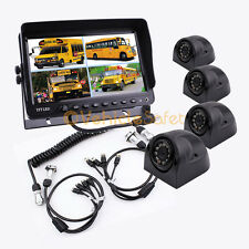 "4AV TRAILER TRUCK CABLE 9"" MONITOR BACKUP SYSTEM SAFETY REAR VIEW CAMERAS"