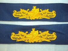 Pair USS USN United States Navy Surface Ship Insignia / Uniform Tapes / Badges