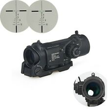 4x Fixed Dual Role Tactical Hunting Scope Riflescope Optics Sight Fits 21mm Rail
