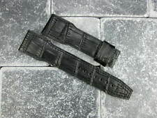 New IWC 22mm Black GATOR Grain Leather Strap Watch Band BIG PILOT