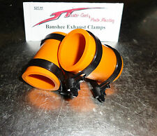 Yamaha Banshee exhaust pipe clamps all years fmf,dg, Factory (ORANGE)