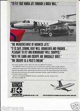 HANSA JET GERMANY THE MERCEDES BENZ OF BUSINESS JETS 1970 AD