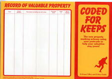 Coded for Keeps -1982 Post Office mechanisation leaflet property marking scheme