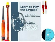 Learn to Play Bagpipes Manual BOOK/CD and PRACTICE CHANTER $37.99