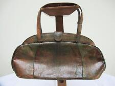 VINTAGE 1930's GREEN STAINED LIZARD SKIN DOMED TOPPED BAG HANDBAG PURSE