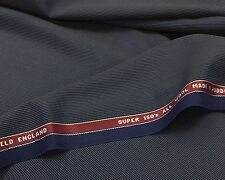 Super 150s Luxury Suiting Navy With Silver Pinstripe 3.5Mts