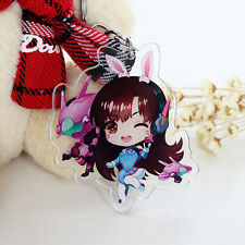 Game Overwatch Cute D.va Key Chain Key Ring Pendant For Gift New