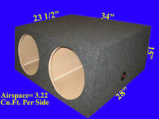 "2 HOLE 15"" EXTRA DEEP GREY SUBWOOFER SUB SPEAKER ENCLOSURE BOX"