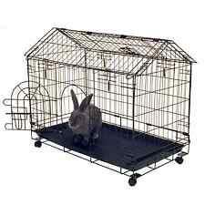 Rabbit House Cage Indoor Outdoor Bunny Crate Small Pet Guinea Pig Portable Frame