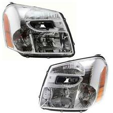 NEW Headlights 05-09 CHEVROLET EQUINOX Driver & Passenger Pair Set Headlamps