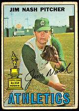 1967 TOPPS OPC O PEE CHEE BASEBALL 90 JIM NASH LG-VG OAKLAND ATHLETICS A'S CARD
