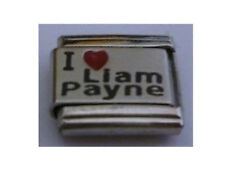L72 One Direction I Love Liam Payne fits 9mm Classic Size Italian Charm Bracelet
