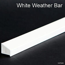 WHITE Weather Rain Deflector Drip Bar upvc Door Window wood guard weatherbar pvc