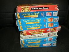 Lot of 8 Winnie The Pooh VHS Tapes Disney Movies Classics