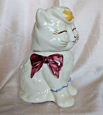 """Vintage 1940s Shawnee Patented Puss 'N Boots USA Cookie Jar 10 1/4"""" Cat Kitty"""