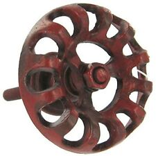 LOT 6 RED HYDRANT ANTIQUE WATER FAUCET DRAWER CABINET DOOR PULL KNOB INDUSTRIAL
