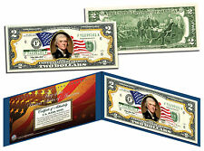 United States of America *Flowing Flag* Legal Tender $2 Bill COLORIZED Currency