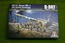 WWII AS.51 HORSA MK.1 with BRITISH PARATROOPERS 1/72 Scale Italeri Kit 1356