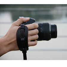 Black PU Leather Hand Wrist Strap Grip for DSLR Canon Nikon Pentax Sony Olympus