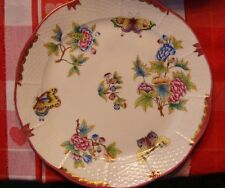 """Herend Dinner/Wall Plate  Pink Border VBO 10"""" D.  Used 2 x. Superb Paint  #524"""