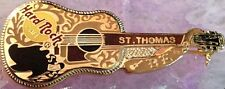 Hard Rock Cafe ST. THOMAS 1998 Buddy Holly DEAD ROCKER Guitar PIN - HRC #8942