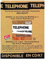 PUBLICITE   1993    FUN  RADIO     LE GROUPE TELEPHONE REVIENT