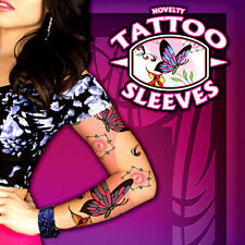 Fake Temporary Joke Tattoo Sleeves Arm Stockings Tatoo For Girls Women Adults