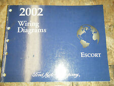 2002 FORD ESCORT FACTORY ELECTRICAL WIRING DIAGRAM SERVICE MANUAL