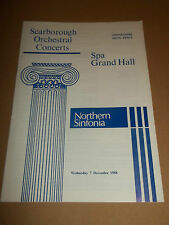 SCARBOROUGH ORCHESTRA CONCERTS SPA GRAND HALL ~ NORTHERN SINFONIA PROGRAMME 1989