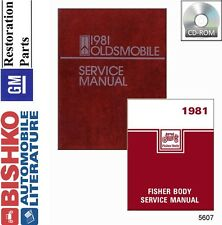 1981 Oldsmobile Cutlass Shop Service Repair Manual DVD Engine Drivetrain Wiring